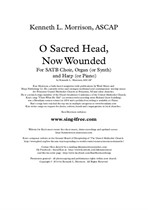 O Sacred Head, Now Wounded (SATB, Harp, Organ, Piano, Synthesizer)